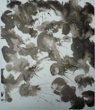 14-Big Burst 10, 2011, Japanese ink on vellum 17x14 inches