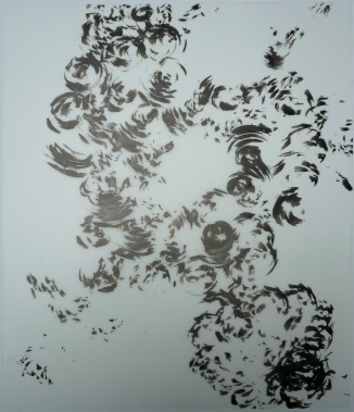 16-Big Burst 7, 2011, Japanese ink on vellum 17x14 inches