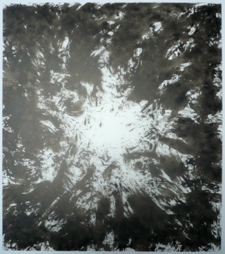 17-Big Burst 5, 2011, Japanese ink on vellum 17x14 inches