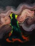 Smoke, 2016, oil on cavas, 12x9 inches
