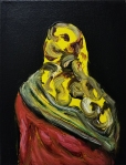 Yellow Scarf, 2016, oil on canvas, 12x9 inches